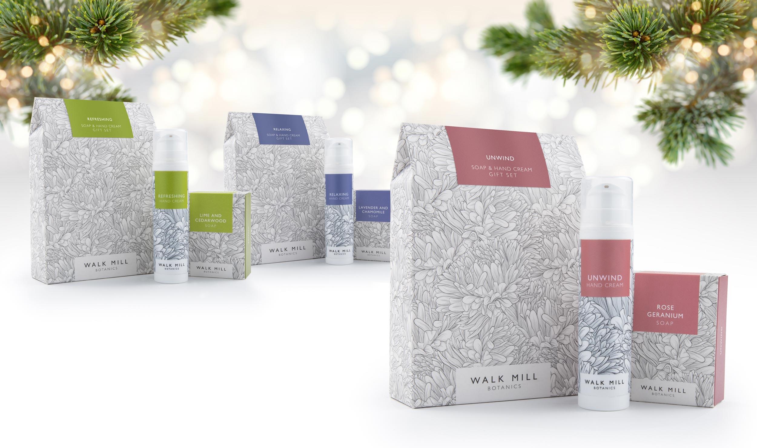 Christmas gift sets Walk Mill Botanics